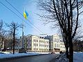 Pravdy Avenue Flag of Ukraine.jpg