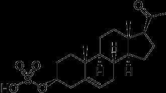 Pregnenolone sulfate - Image: Pregnenolone sulfate
