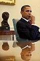 President Barack Obama listens during a meeting with senior advisors in the Oval Office, Jan. 25, 2010.jpg
