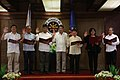 President Rodrigo Duterte administers the oath of office for the newly-elected officers of the Presidential Photojournalists Association in Malacañan on September 26.jpg