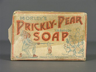 Museo del Objeto del Objeto - Morley's Prickly Pear Soap. Paper wrapping, beginning of the 20th century.