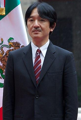 Fumihito, Prince Akishino - Prince Akishino during his visit to Mexico City, October 2014