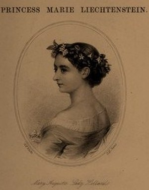 Marie Fox - An illustration of Princess Marie on the cover of her book, Holland House