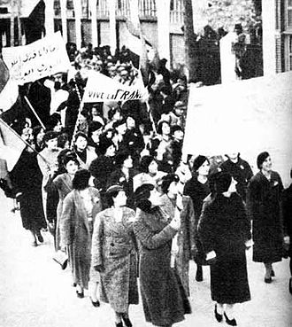 "Hatay Province - Protests in Damascus in 1939 by women demonstrators against the secession of the Sanjak of Alexandretta, and its subsequent joining into Turkey as the Hatay Province. One of the signs reads: ""Our blood is sacrificed for the Syrian Arab Sanjak."""