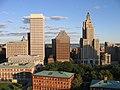 Providence skyline over Kennedy Plaza.jpg