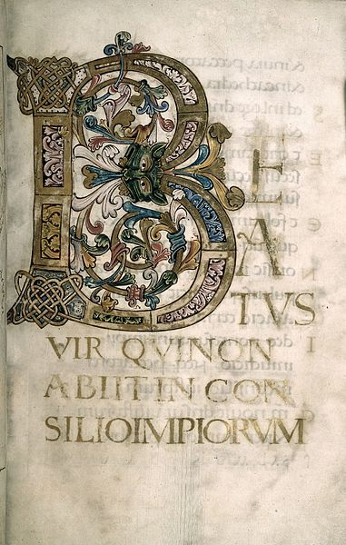 File:Psalter of Oswald - Harley 2904 f4 Beatus initial.jpg