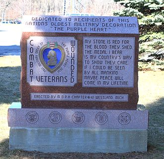 Purple Heart - Purple Heart Memorial, Westland, Michigan