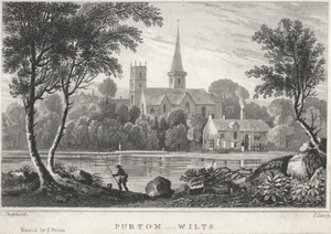 Purton - Purton in a copper engraving of about 1830