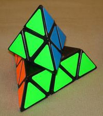 Pyraminx - Pyraminx in the middle of a twist