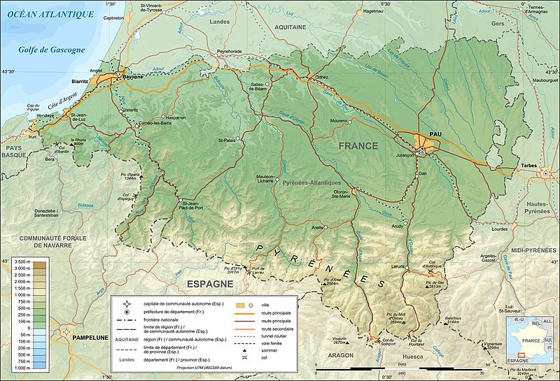 Image:Pyrenees-Atlantiques topographic map-fr.jpg