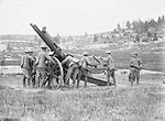 QF 13 pounder 9 cwt AA gun on field mounting WWI IWM Q 26828.jpg