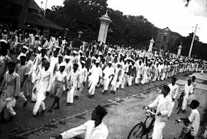 Quit India Movement - Procession in Bangalore during the Quit India Movement