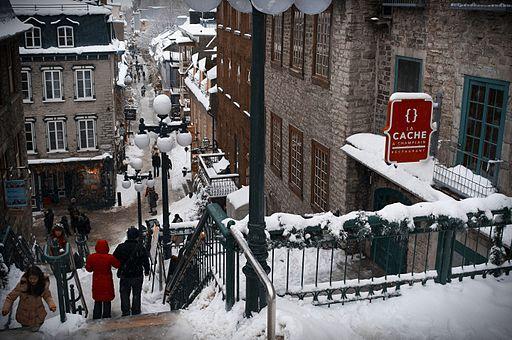 冬のケベック市