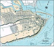 Quebec City Downtown map in 1906.