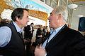 Quentin Peel ledarskribent pa Financial samtalar med Halldor Asgrimsson generalsekreterare Nordiska ministerradet pa globaliseringsmotet i Riksgransen 2008-04-09.jpg