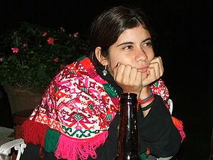 Quechquemitl - Quezquémetl from the Huasteca Potosina (because of the colors)