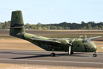 De Havilland Canada DHC-4 Caribou - A Royal Australian Air Force Caribou at Bundaberg airport.