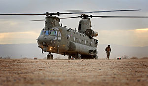 No. 18 Squadron RAF - A No. 18 Squadron Chinook helicopter during an exercise in 2014