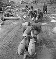 RAF armourers with 500 lb bombs Malta WWII IWM CM 4662.jpg