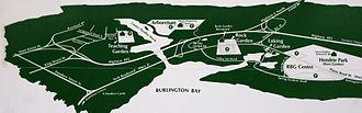 Royal Botanical Gardens (Ontario) - Image: RBG Map