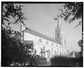 REAR VIEW OF CHURCH, FROM NORTHWEST - Grace Episcopal Church, 100 Wentworth Street, Charleston, Charleston County, SC HABS SC,10-CHAR,326-3.tif
