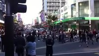 File:RWC flash mob Maori Haka - queen street intersection.webm