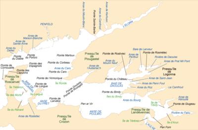 Carte de la rade de Brest.