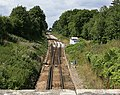 Railway line approaching Botley Station from the south - geograph.org.uk - 212881.jpg