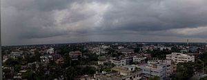 Panoramic view of Rajshahi from Sadharan Bima Bhaban