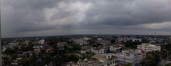 centre রাজশাহী শহরের প্যানোরামিক চিত্র