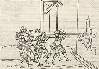 Roberto Valturio - Extract of De Re Militari, printed in 1534 in Paris.