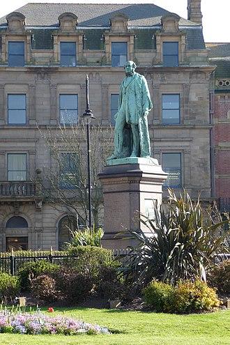 James Ramsden (industrialist) - The statue of Sir James Ramsden in Ramsden Square, Barrow-in-Furness