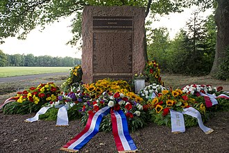 Ramstein air show disaster - The memorial set up to commemorate the victims