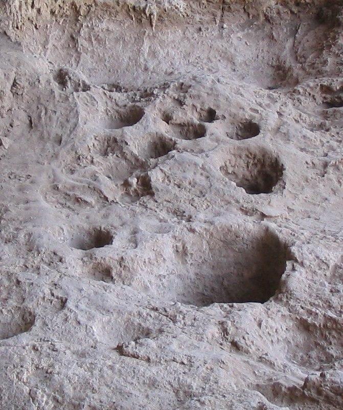 Raqefet Cave rock mortars