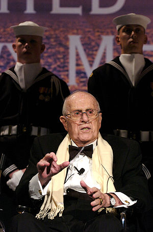 Red Auerbach - Auerbach being honored on October 25, 2006, a few days before his death,  for his service in the Navy during World War II.
