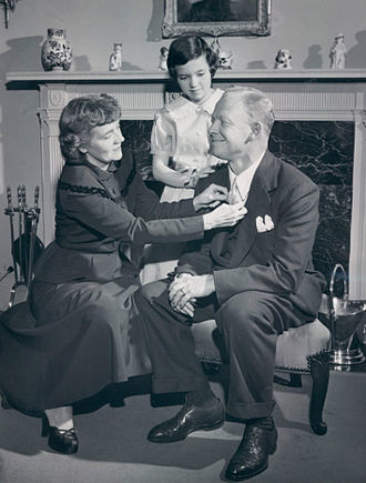 Red Barber - Barber with wife Lylah and daughter Sarah, 1950.