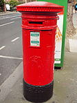 Red pillar box (1916 Celebrations 2016) Northumberland Rd 1.JPG