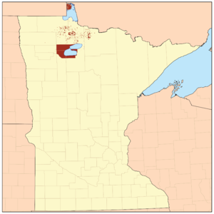Red Lake Indian Reservation - Map of Red Lake Indian Reservation Lands