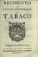 Regimento da Junta da Administraçam do Tabaco, 1727.jpg