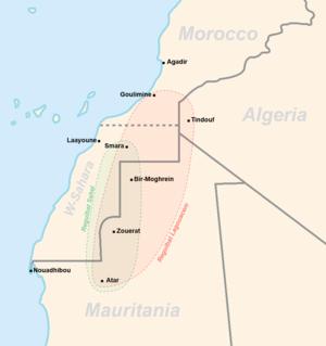 Reguibat tribe - Image: Reguibat Localisation