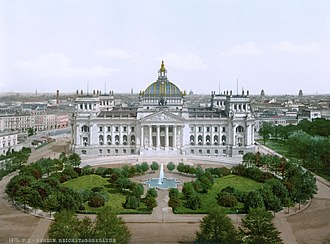 Reichstag (German Empire) - The new Reichstag building in 1894