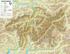 Karte des Kantons