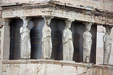 Replicas of the Caryatids at the Erectheum 2010 4.jpg
