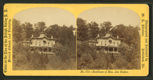 Asa Packer - Stereotype card of the Asa Packer Mansion photographed  by M. A. Kleckner