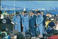 Richard M. Nixon meeting with Apollo 13 astronauts in Hawaii. - NARA - 194314.tif