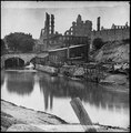 Richmond, Va. View on James River and Kanawha Canal near the Haxall Flour Mills; ruins of the Gallego Mills beyond LOC cwpb.02532.tif