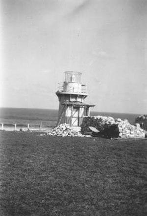 Richmond River Light - Demolition of the porch and annexe, November 1940