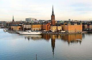 Riddarholmen island and urban district in Stockholm, Sweden