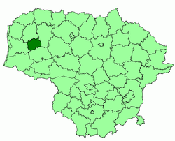Location of Rietavas municipality within Lithuania