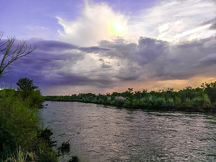 Island within the Rio Grande from the North Valley in Albuquerque, New Mexico Rio Grande-2.jpg